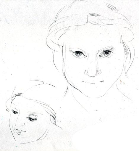Нарисовать у лукоморья по этапно